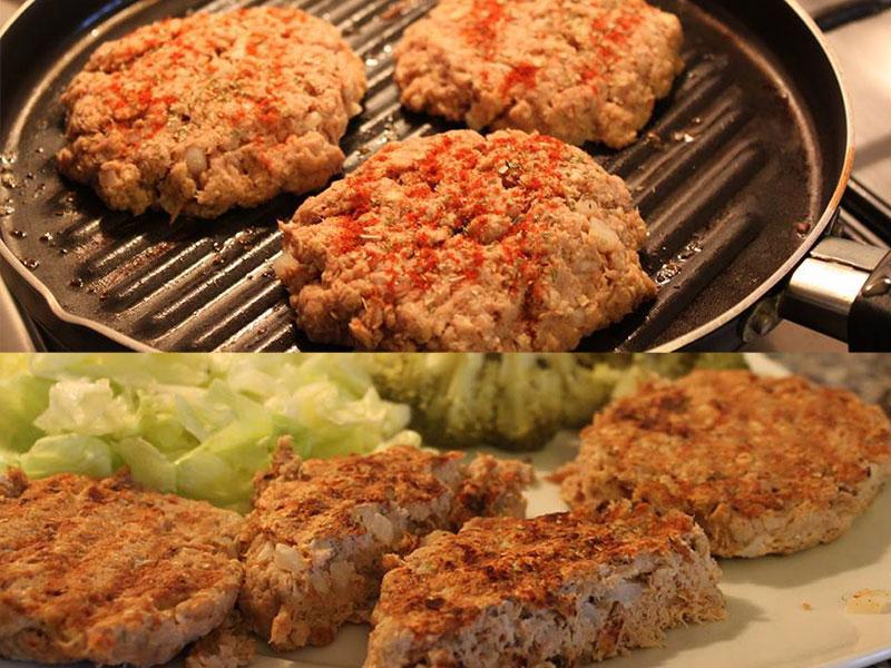 Hamburgers de Atum caseiros