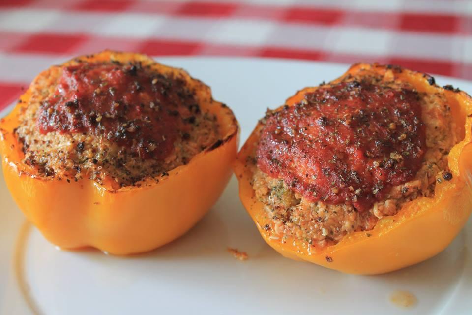 Jantar de hoje #3 - Pimentos recheados