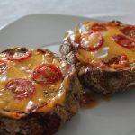 Mini Pizzas com base de cogumelos Portobello