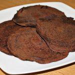 Panquecas com farinha de alfarroba
